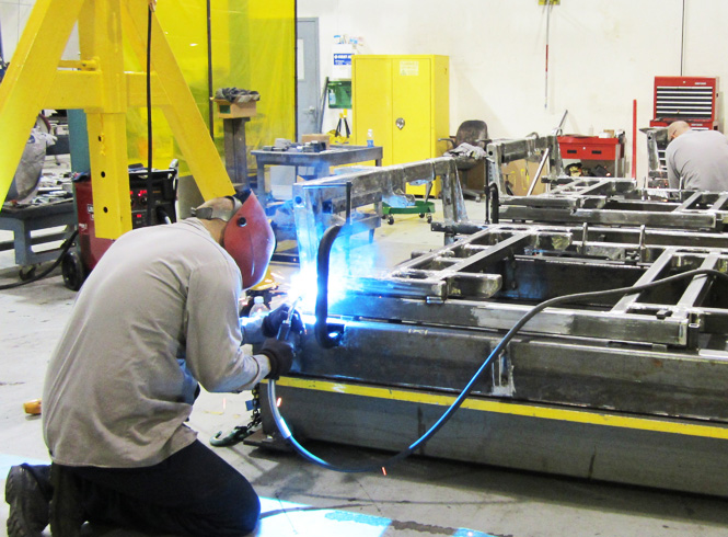 Metal fabrication, large scale weldments and bogies