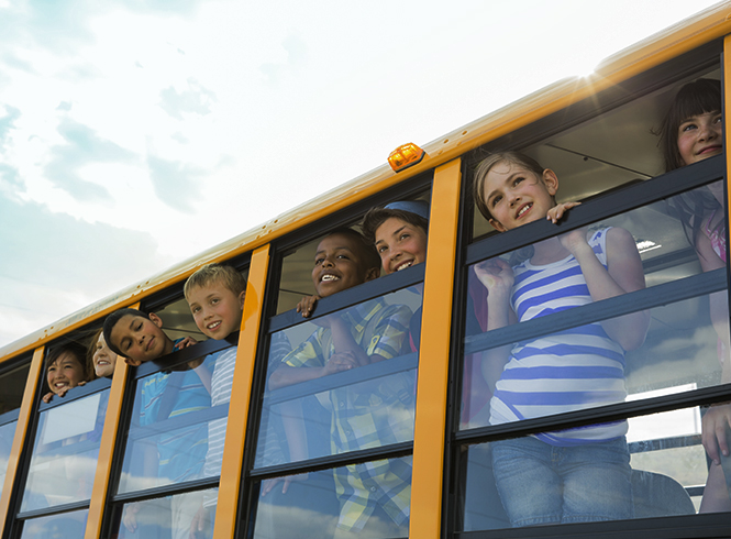 Roush Clean Tech, kids on school bus