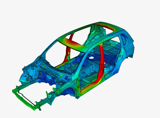 Modal analysis of a vehicle body assembly